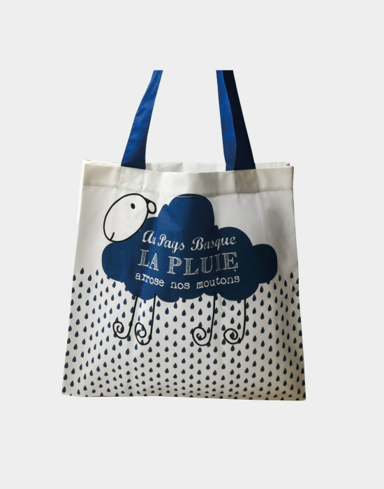 "Tote bag of my country ""La pluie du Pays Basque"""