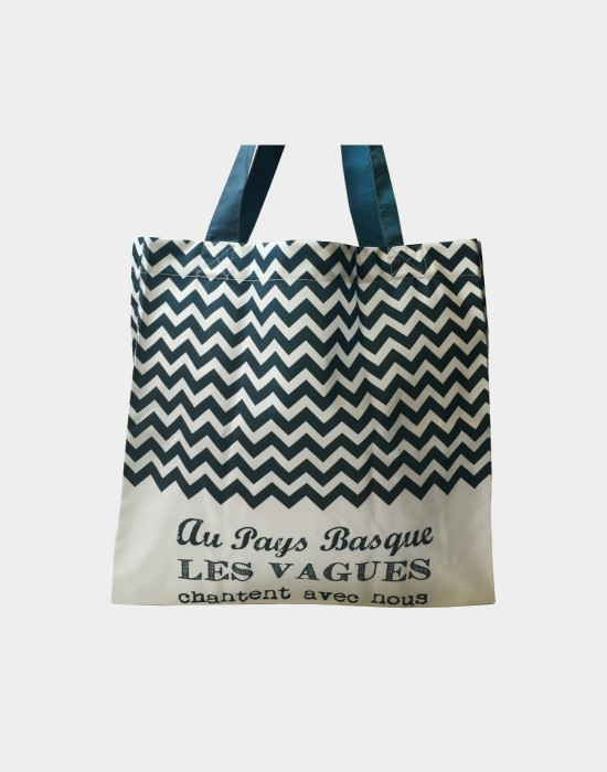 "Tote bag of my country ""Les vagues du Pays Basque"""