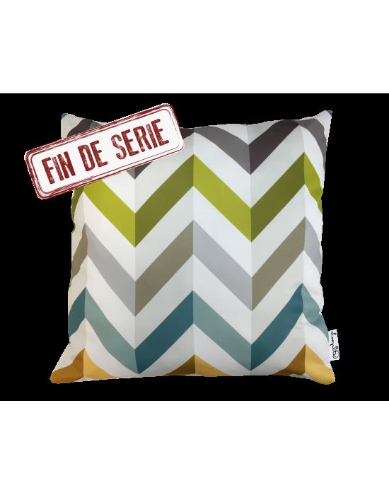 """Cushion cover """"Le zigzag du paon"""""""