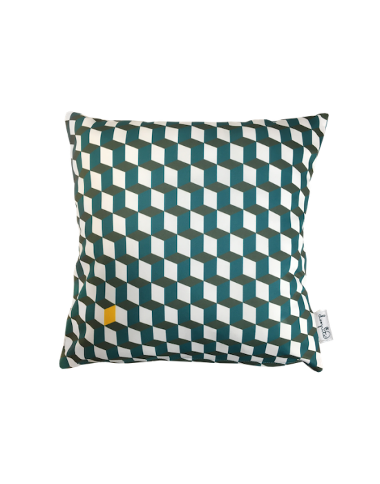"Cushion cover ""La 3D du canard"" recto"
