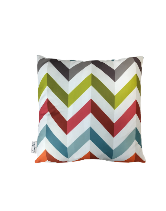 "Cushion cover ""Le zigzag du marsala"" recto"