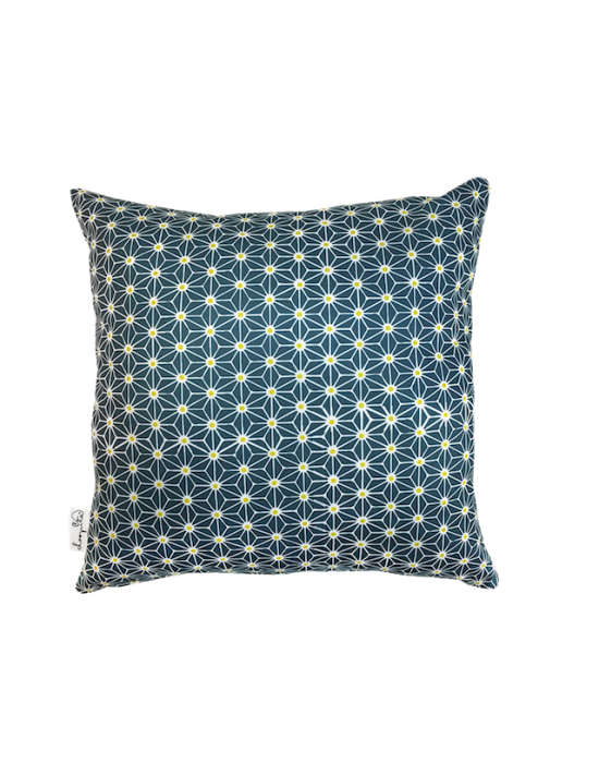 "Cushion cover ""Le cosmos du paon"" recto"