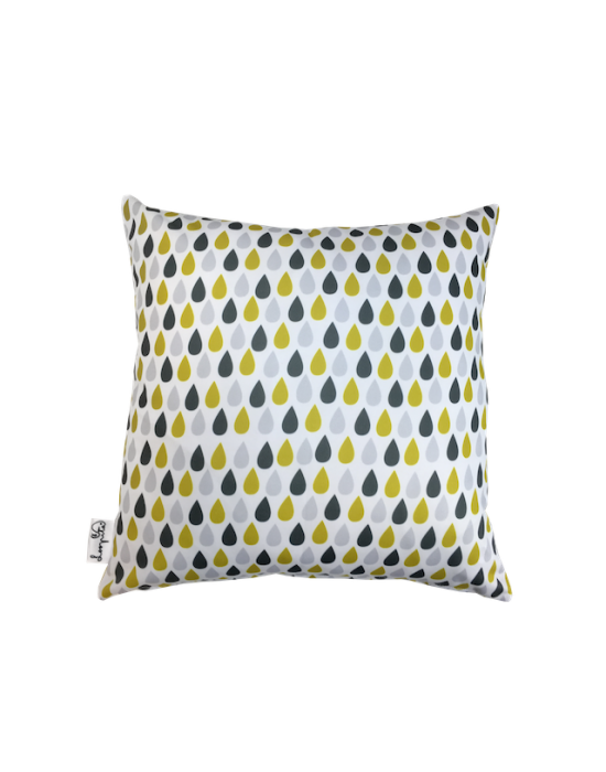 "Cushion cover ""Il pleut des tournesols"" recto"