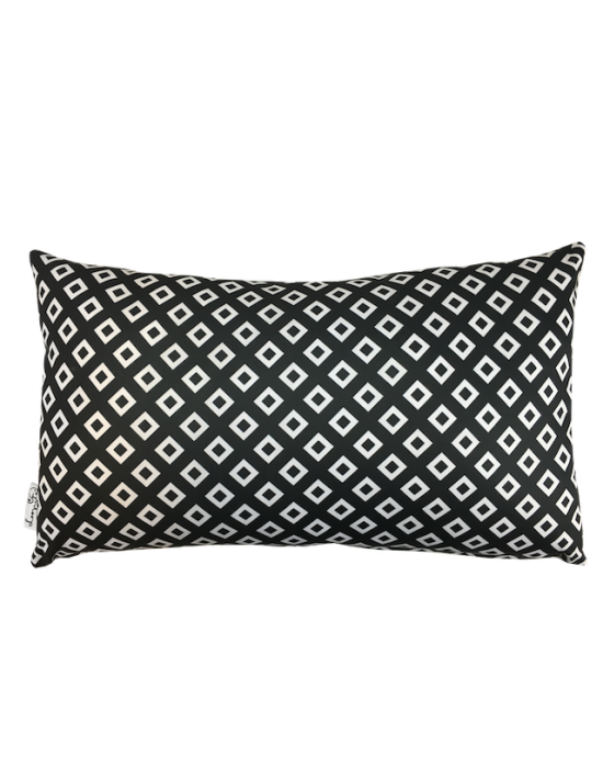 "Cushion cover ""Les losanges N&B"" recto"