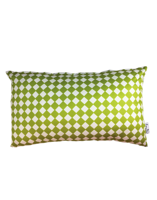 "Cushion cover ""Les losanges de la pistache"""