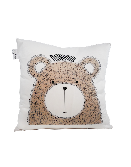 "Kids cushion cover ""My bear"" recto"