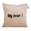 "LOOPITA Housse de coussin ""My Bear"" verso"