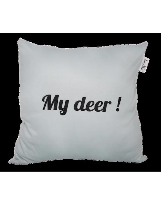 """LOOPITA Housse de coussin """"My Deer"""" verso"""