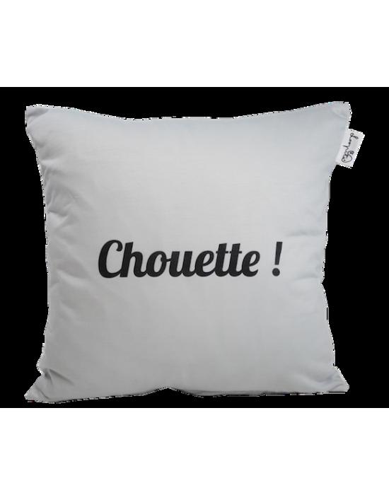 "LOOPITA housse de coussin ""Chouette !"" verso"