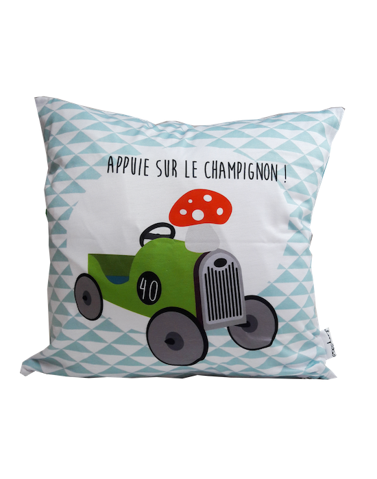 "Kids cushion cover ""Poët Poët"" recto"
