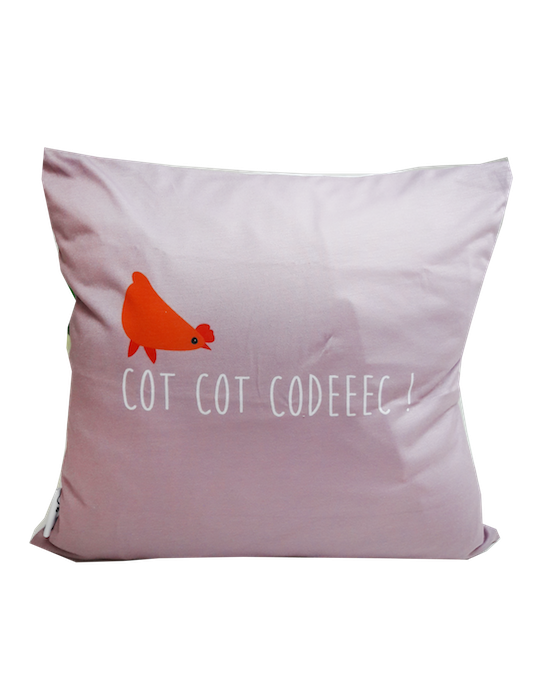 LOOPITA housse coussin Ma Poule verso