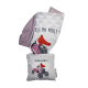 LOOPITA housse coussin Ma Poule + trousse