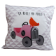 LOOPITA housse coussin Ma Poule recto