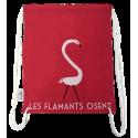"""LOOPITA Sac à dos """"Les flamants"""" plat recto"""