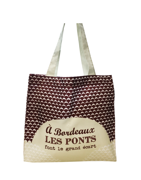 "Tote bag of my country ""Les ponts de Bordeaux"""