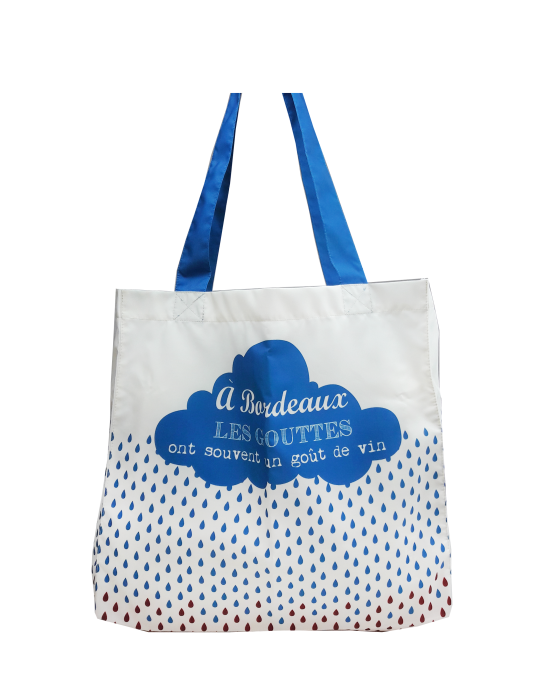 "Tote bag of my country ""Les gouttes de Bordeaux"""
