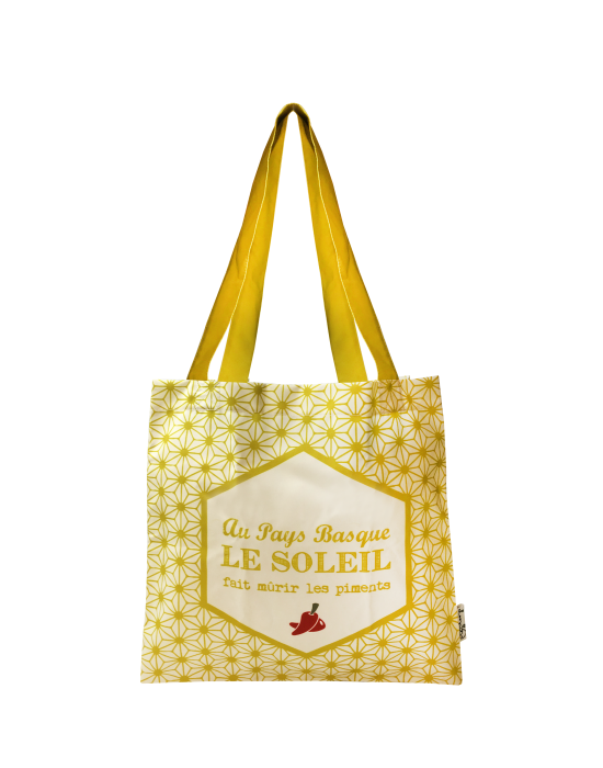 """Tote bag of my country """"Le soleil du Pays Basque"""""""