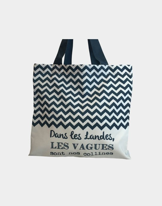 "Tote bag of my country ""Les vagues des Landes"""