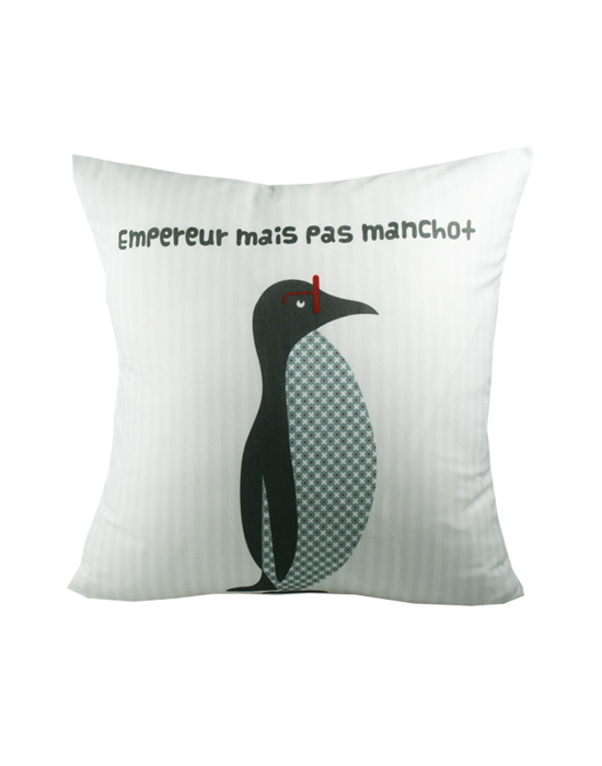 "Kids cushion cover ""Ma poule"" recto"