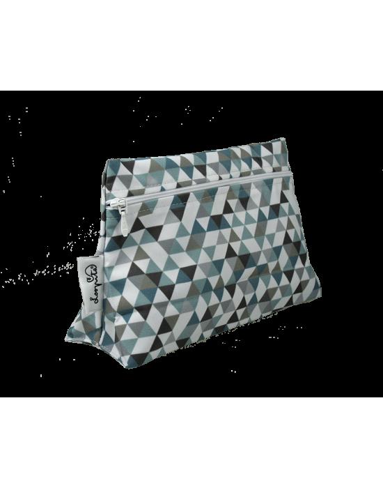 "LOOPITA Trousse triangle ""Le pixiz du paon"""