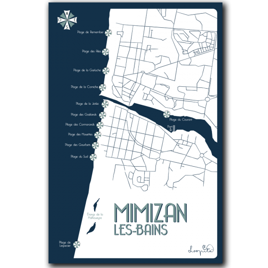 Mimizan from the sky